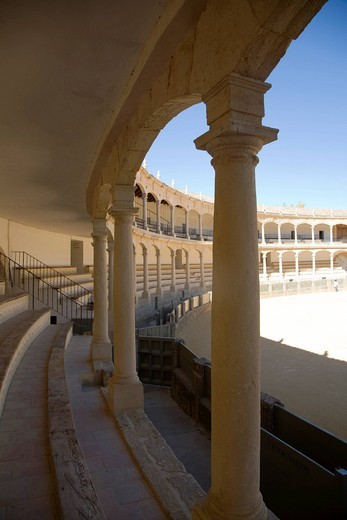 arena, ronda, andalusia, spagna. bullfighting arena, ronda, andalucia, spain : Stock Photo