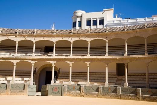 Stock Photo: 3153-846335 arena, ronda, andalusia, spagna. bullfighting arena, ronda, andalucia, spain