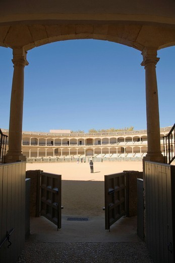Stock Photo: 3153-846744 arena, ronda, andalusia, spagna. bullfighting arena, ronda, andalucia, spain