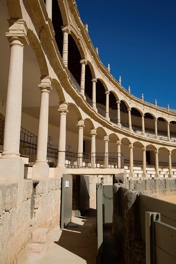 Stock Photo: 3153-846745 arena, ronda, andalusia, spagna. bullfighting arena, ronda, andalucia, spain