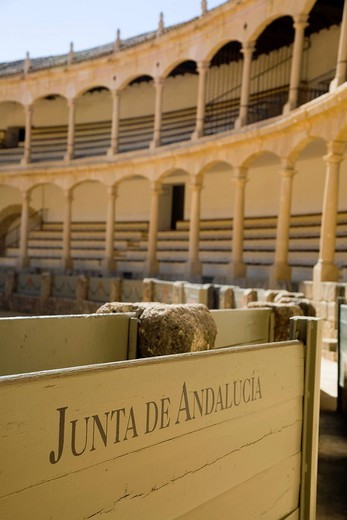 Stock Photo: 3153-847041 arena, ronda, andalusia, spagna. bullfighting arena, ronda, andalucia, spain