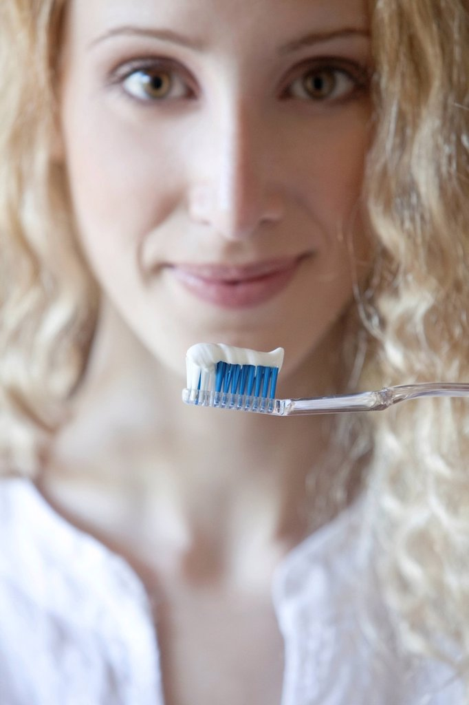 donna, spazzolino da denti. woman, toothbrush : Stock Photo