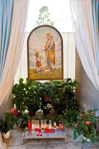Stock Photo: 3153-849260 Shrine of Our Lady of the Snows, Santuario della Madonna delle nevi, Adro, Franciacorta, Lombardy, Italy. Shrine of Our Lady of the Snows, Santuario della Madonna delle nevi, Adro, Franciacorta, Lombardy, Italy