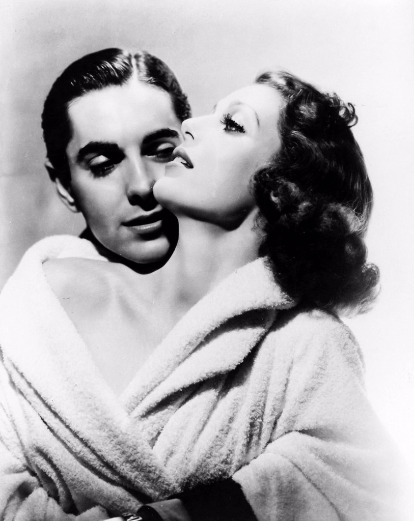 Stock Photo: 3153-849290 Tyrone Power e Loretta Young, l´amore é novità 1937. Tyrone Power and Loretta Young, love is news 1937