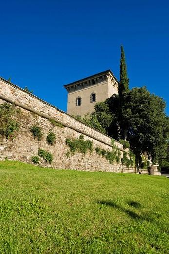 Stock Photo: 3153-849378 Quistini castle, Rovato, Franciacorta, Lombardy, Italy. Quistini castle, Rovato, Franciacorta, Lombardy, Italy