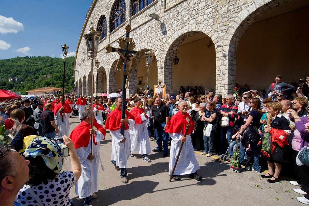 Stock Photo: 3153-850119 celebrazioni ritiane, cascia, umbria, italia. festivity dedicated to St. Rita, Cascia, Umbria, Italy