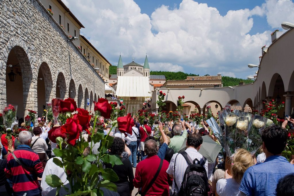 celebrazioni ritiane, cascia, umbria, italia. festivity dedicated to St. Rita, Cascia, Umbria, Italy : Stock Photo