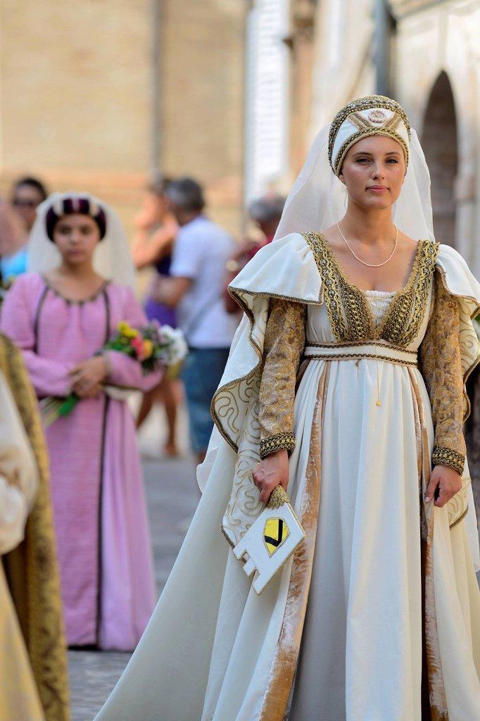 corteo storico della cavalcata dell´assunta, fermo, marche. cavalcata dell´assunta, fermo, marche : Stock Photo