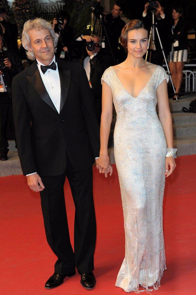 Stock Photo: 3153-852486 domenico procacci, kasia smutniak, 65° Festival di Cannes. , 65° Festival di Cannes