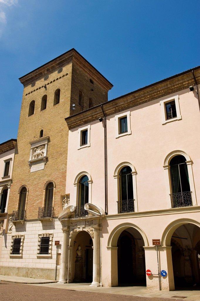 Stock Photo: 3153-852731 Italy, Lombardy, Crema, Pretorio palace. Italy, Lombardy, Crema, Pretorio palace