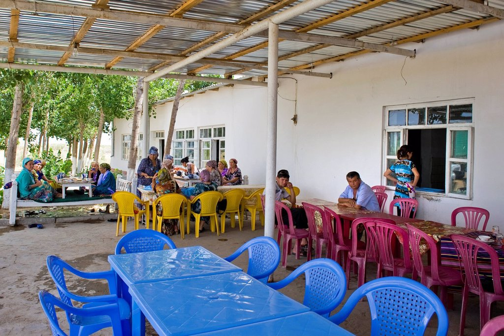 Stock Photo: 3153-853442 Uzbekistan, Surrounding of Khiva, traditional restaurant