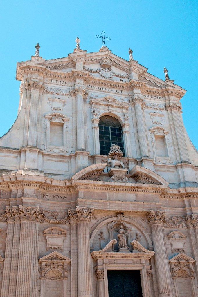 Stock Photo: 3153-854189 facciata della chiesa di santa irene dei teatini, lecce. santa irene church, lecce, puglia, italy