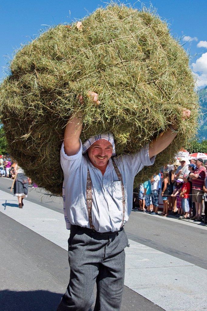 svizzera, canton berna, interlaken, festival del 1° agosto. Switzerland, Canton Bern, Interlaken, festival in the 1st of August : Stock Photo