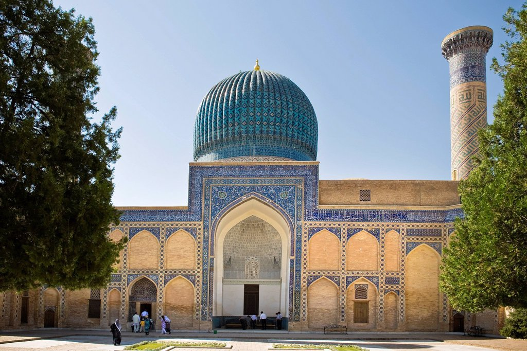 Stock Photo: 3153-857096 Uzbekistan, Samarkand, Amir Temur mausoleum. Uzbekistan, Samarkand, Amir Temur mausoleum