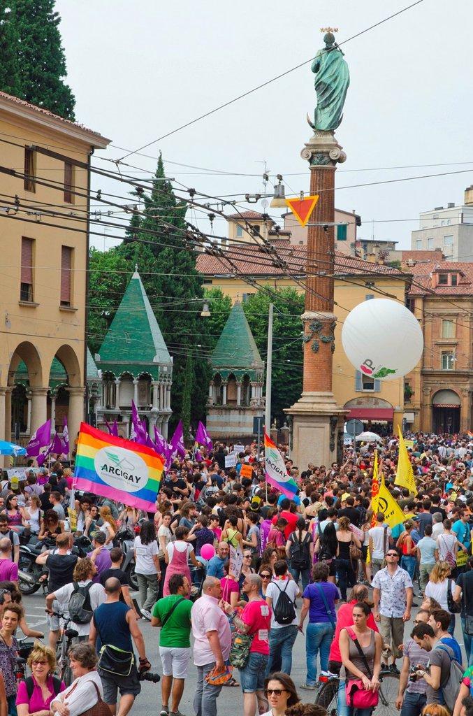 bologna pride, gay pride, bologna, 9_6_2012 : Stock Photo