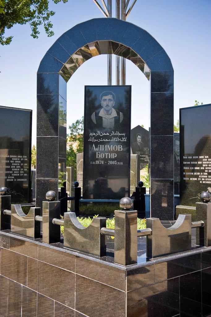 Stock Photo: 3153-857423 Uzbekistan, Samarkand, Shoi Zinda mausoleum, cemetery. Uzbekistan, Samarkand, Shoi Zinda mausoleum, cemetery