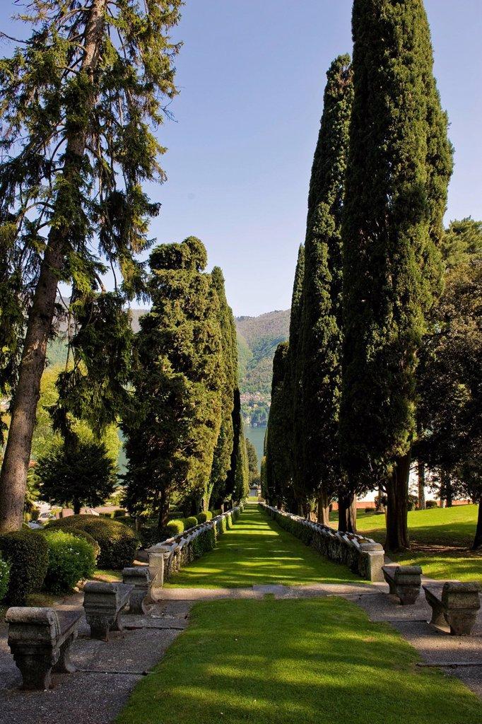 Stock Photo: 3153-859063 Italy, Lombardy, Cernobbio, Villa d´Este gardens. Italy, Lombardy, Cernobbio, Villa d´Este gardens