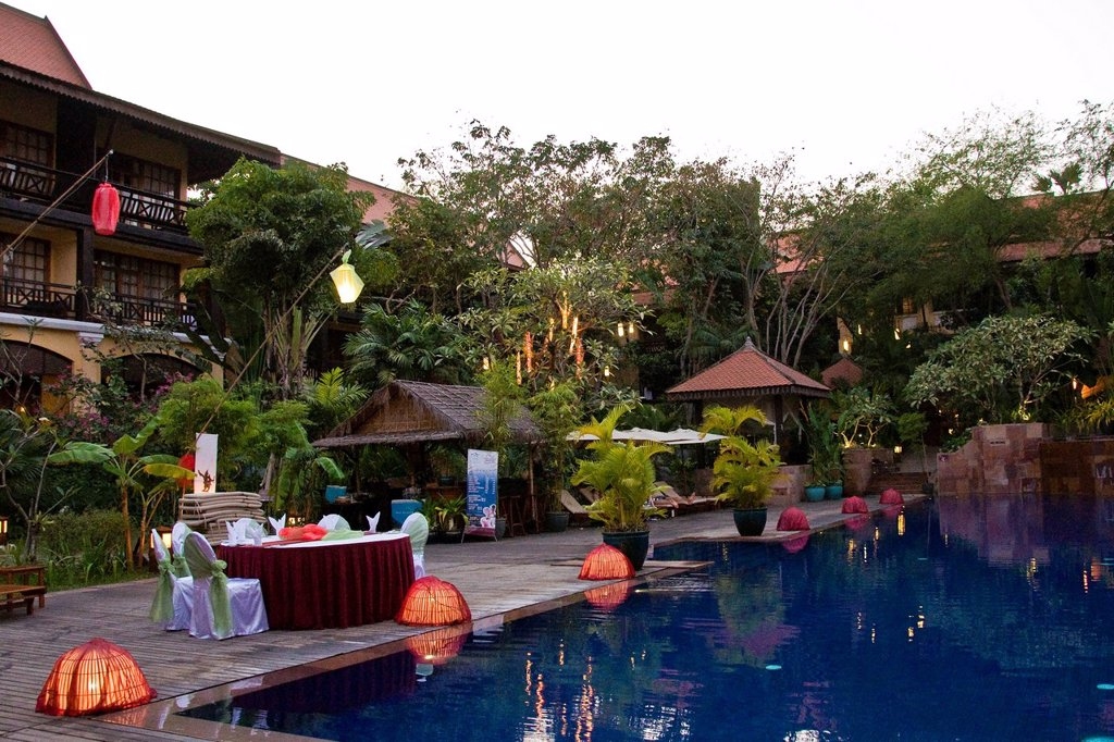 victoria angkor resort and SPA, siem reap, cambogia. Victoria Angkor Resort and Spa, Siem Reap, Cambodia : Stock Photo