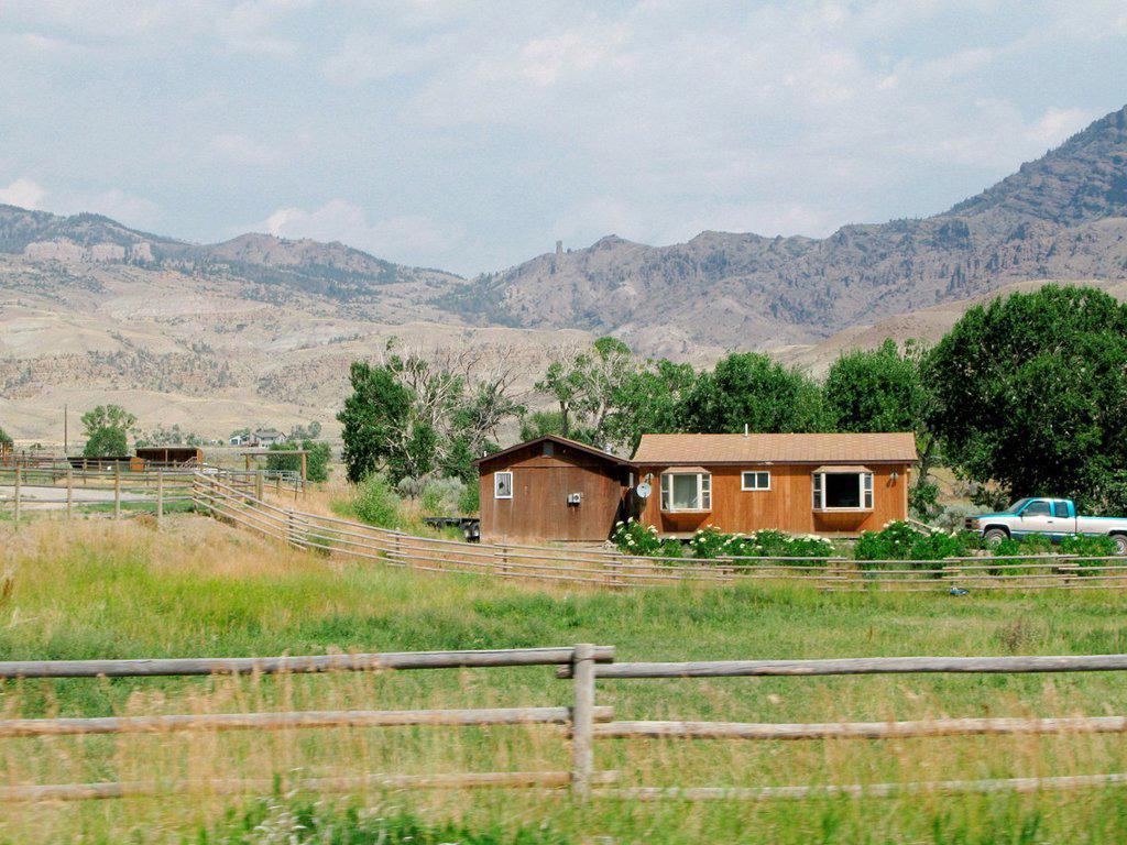 usa, wyoming, fattoria. usa, wyoming, farm : Stock Photo