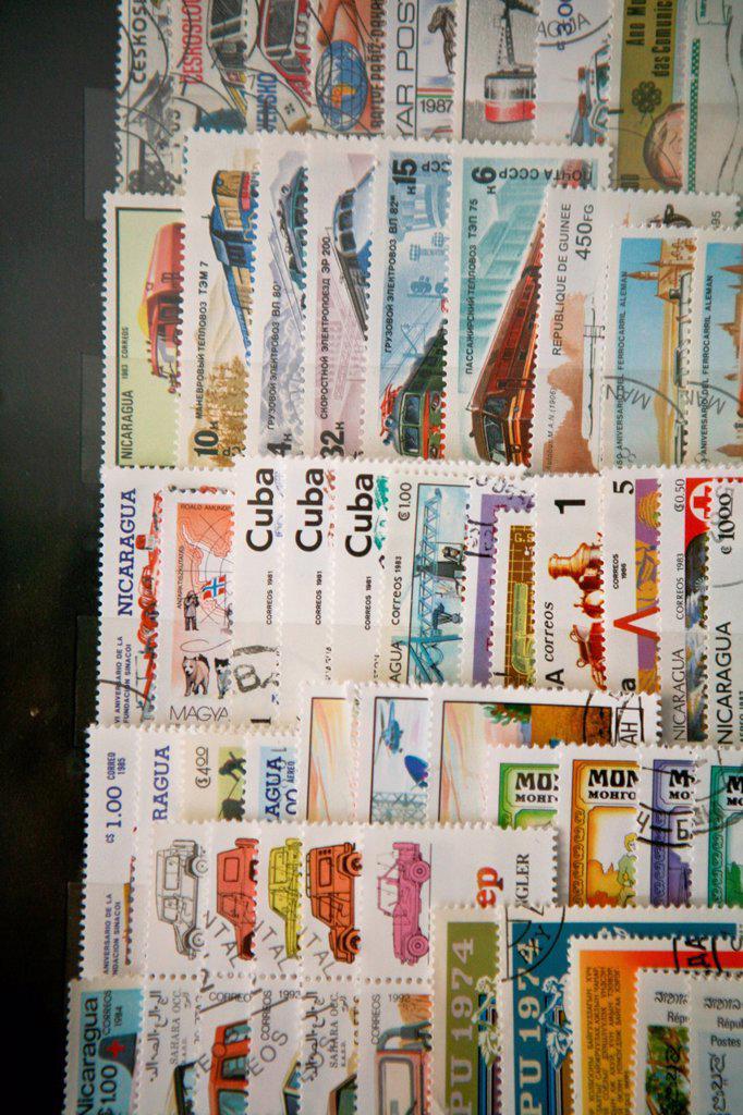 Stock Photo: 3153-866051 collezione di francobolli. stamp collection