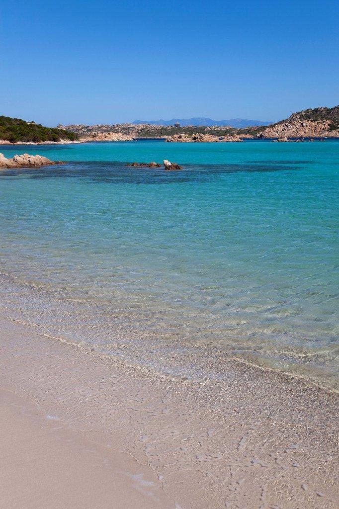 spiaggia del cavaliere, isola di budelli, la maddalena, sardegna. Spiaggia del Cavaliere, Budelli island, La Maddalena, Sardinia, Italy : Stock Photo