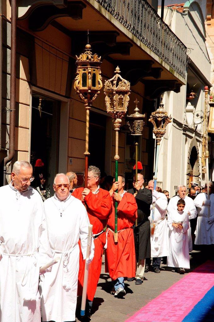 Stock Photo: 3153-868324 processione del corpus domini, camaiore, italia. procession of Corpus Christi, Camaiore, Italy