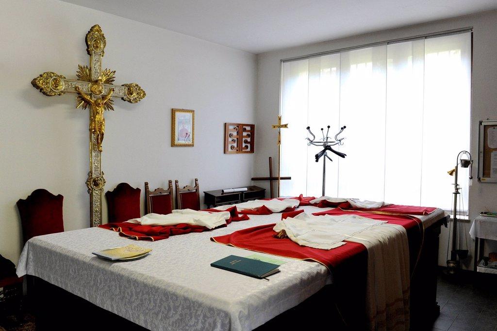 Stock Photo: 3153-869600 sacrestia. Italy, Lombardy, Legnano, Sacristy