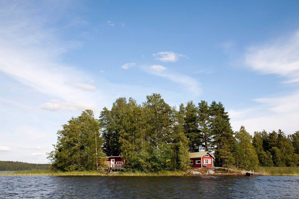 Stock Photo: 3153-871622 casa di campagna, lago rautavesi, zona del vammala, finlandia. country house, rautavesi lake, vammala village area, finland, europe