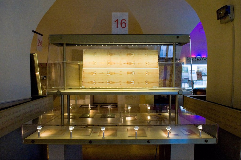 museo della sindone, torino, italia. Italy, Piedmont, Turin, Holy Shroud museum : Stock Photo