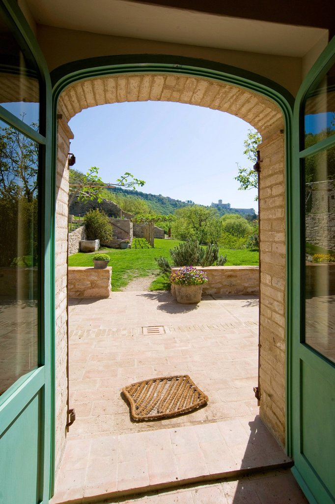 Stock Photo: 3153-872691 santa croce, bosco di san francesco, assisi, umbria, italy