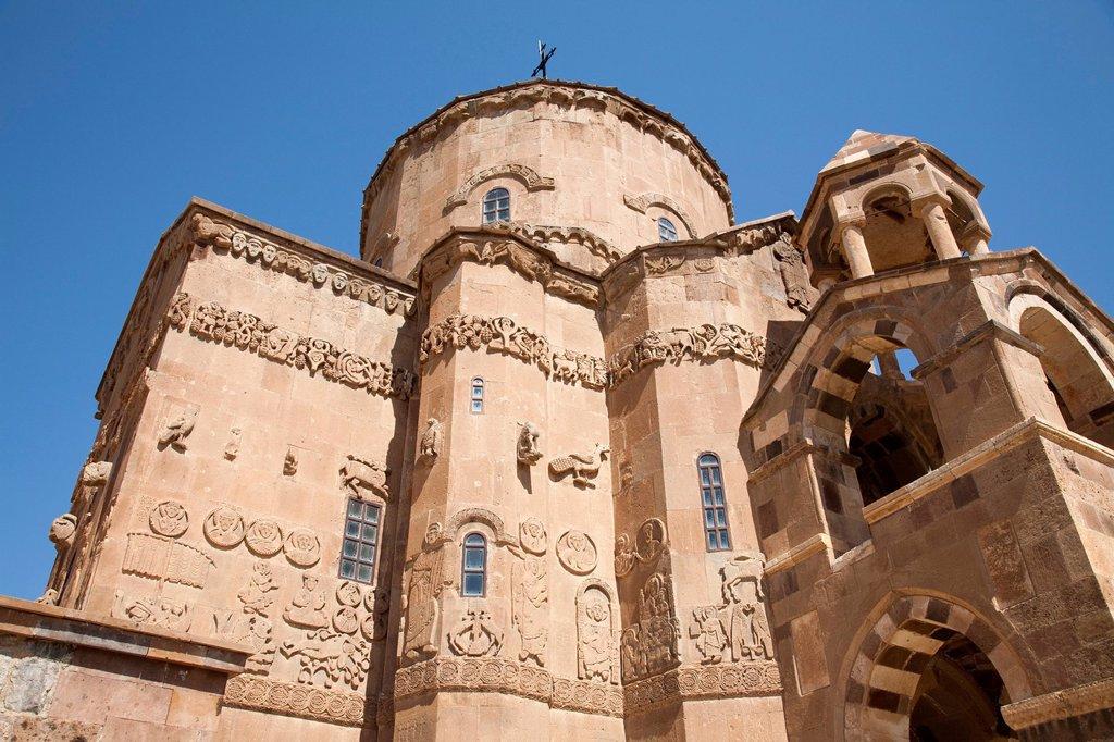 Stock Photo: 3153-878896 chiesa armena della santa croce, isola di akdamar, anatolia, turchia