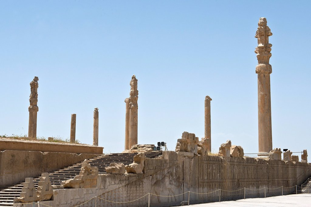 Asia, Iran, Persepolis, Archaeological site : Stock Photo