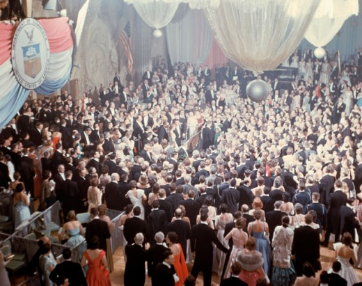 President Dwight D. Eisenhower at Inaugural Ball, Washington D.C., USA : Stock Photo
