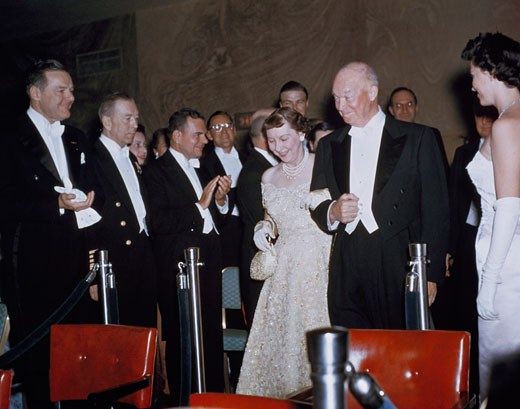Stock Photo: 3487-91680 President Dwight Eisenhower & First Lady Mamie Eisenhower