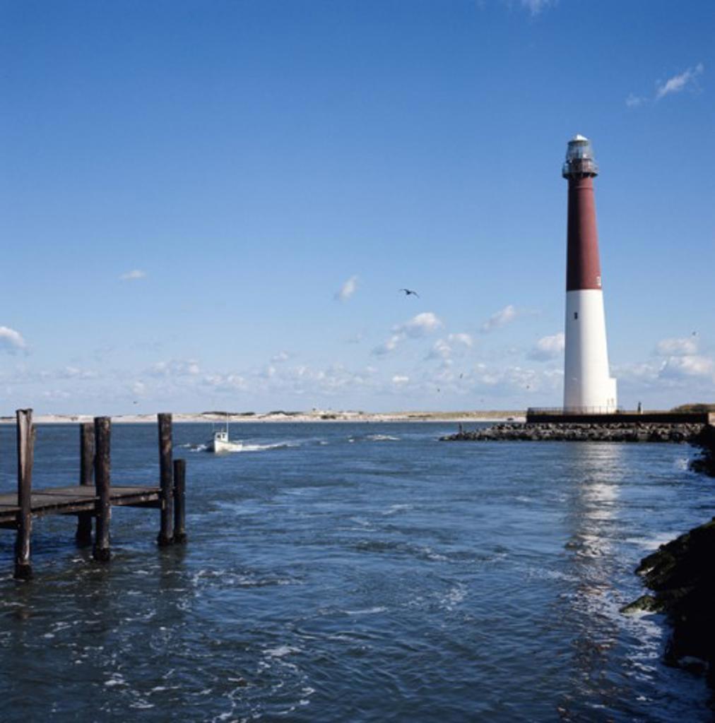 Long Beach Island New Jersey: Barnegat Lighthouse Long Beach Island New Jersey USA Stock