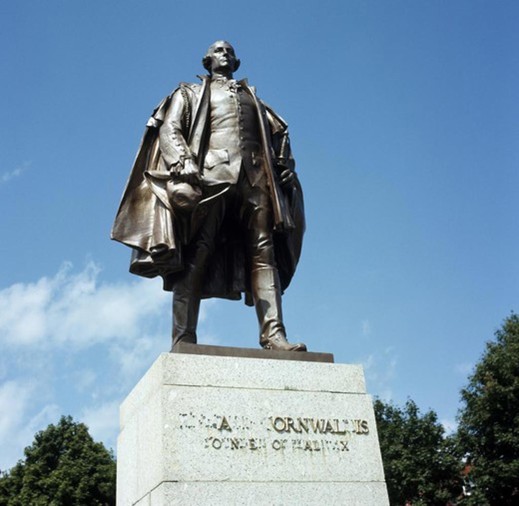 Stock Photo: 3800-493124 Canada, Nova Scotia, Halifax, Cornwallis Monument