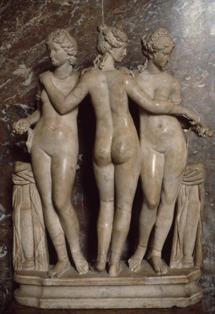 Stock Photo: 3800-542537 The Three Graces, France,  Paris,  Musee du Louvre