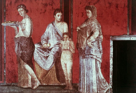Stock Photo: 3800-903710 Villa Of The Mysteries:The Reading Of The Ritual And The Sacrifice