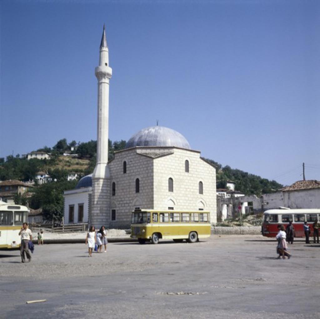 Stock Photo: 3801-529094 Facade of a Mosque, Berat, Albania