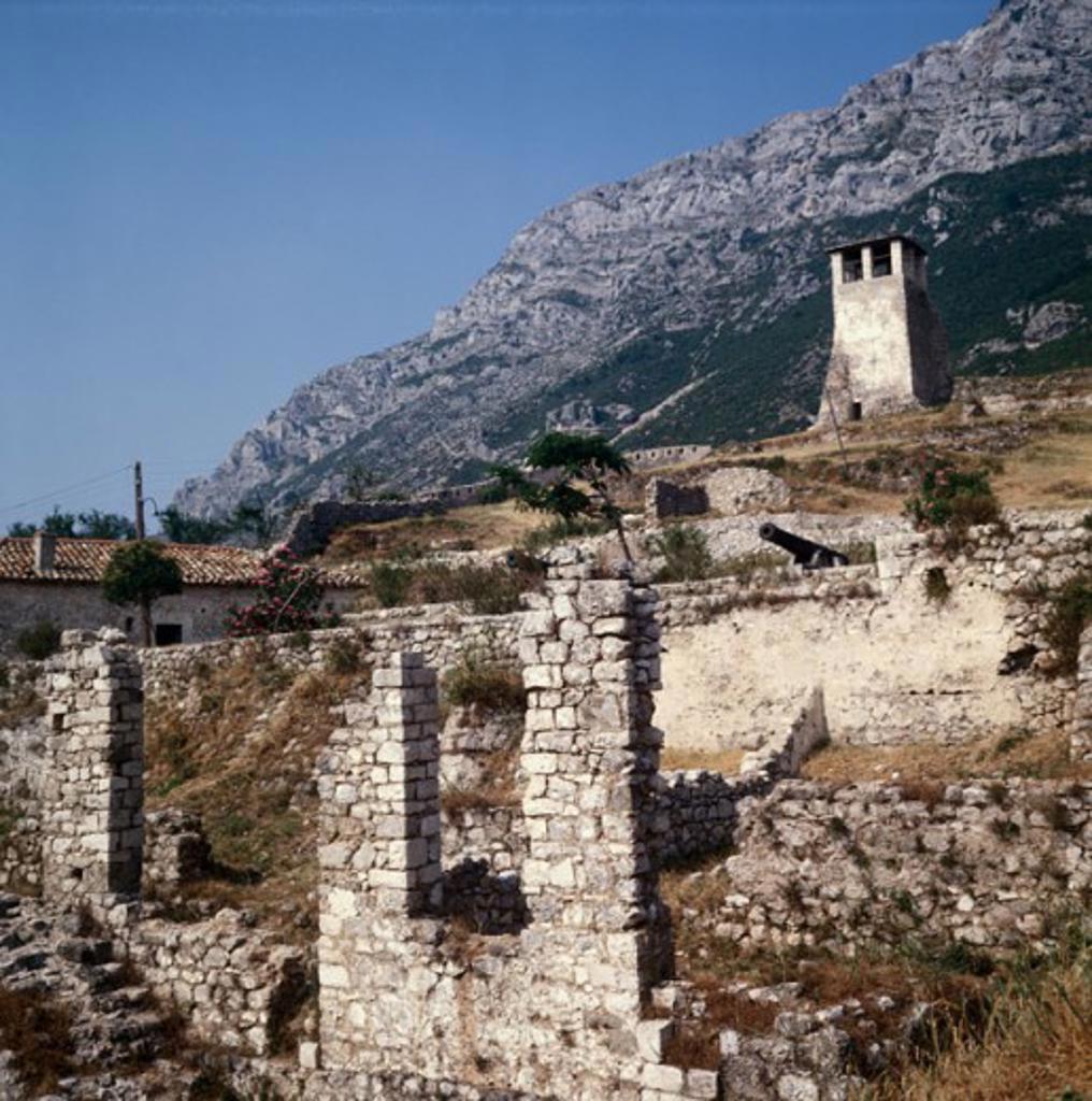 Skenderbeg Fort Kruje Albania : Stock Photo