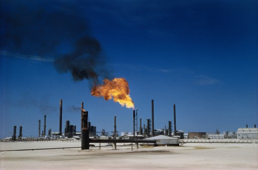 Stock Photo: 3803-445458 Oil Refinery