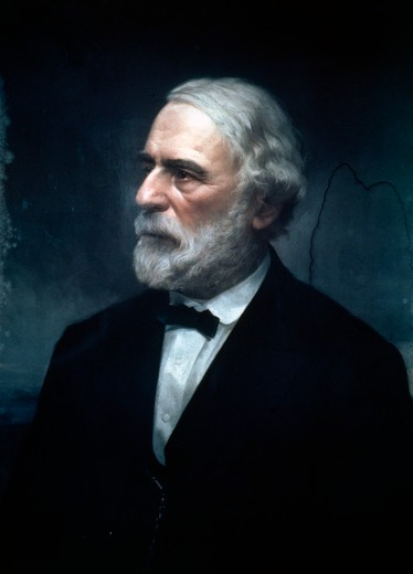 Robert E. Lee, artist unknown, 1860s : Stock Photo