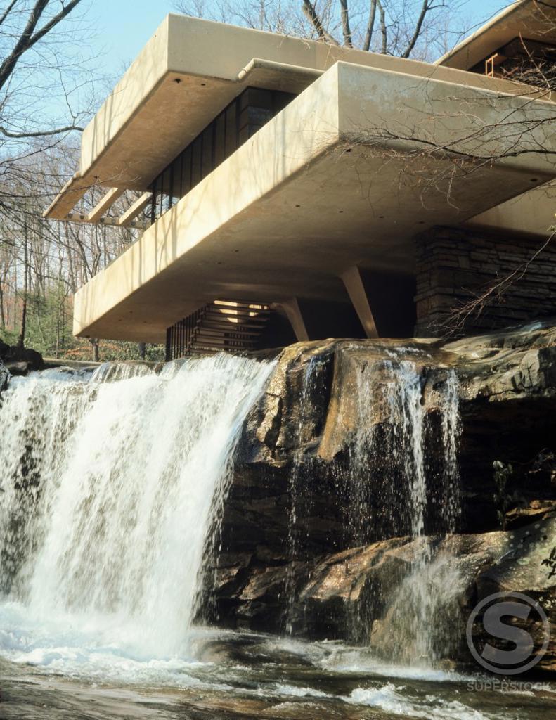 Stock Photo: 3803-535736 Fallingwater By Architect Frank Lloyd Wright Bear Run Pennsylvania, USA