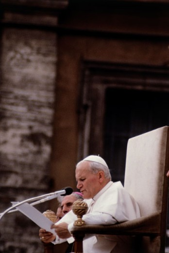 Stock Photo: 3803-583933 Pope John Paul II