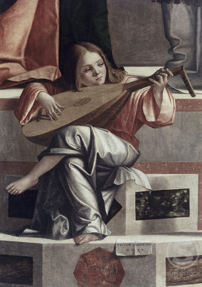 Child with a Lute  (Detail from The Presentation of Jesus in the Temple) 