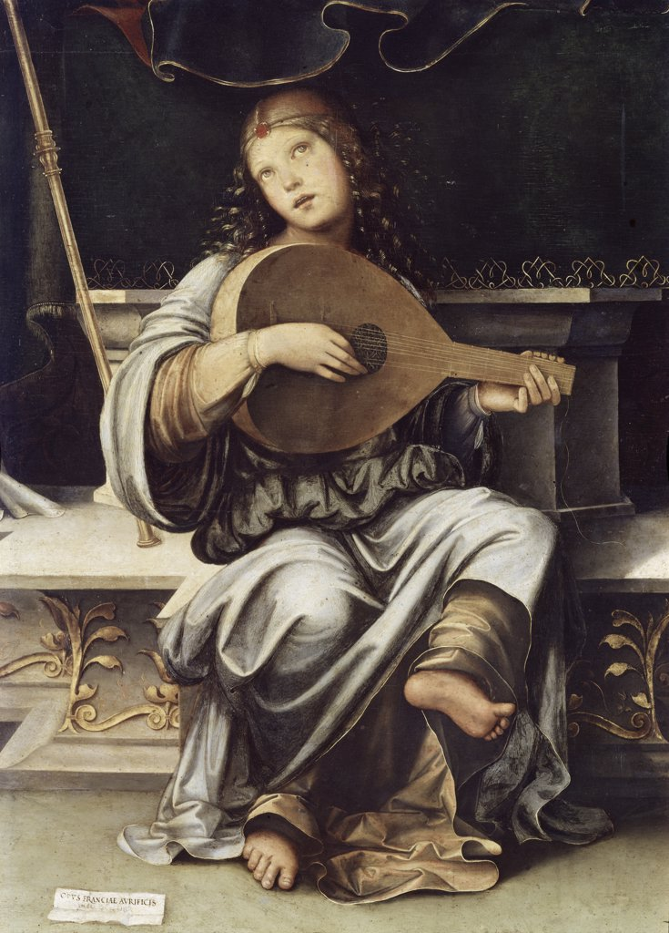 Stock Photo: 3804-341488 Girl with a Lute 