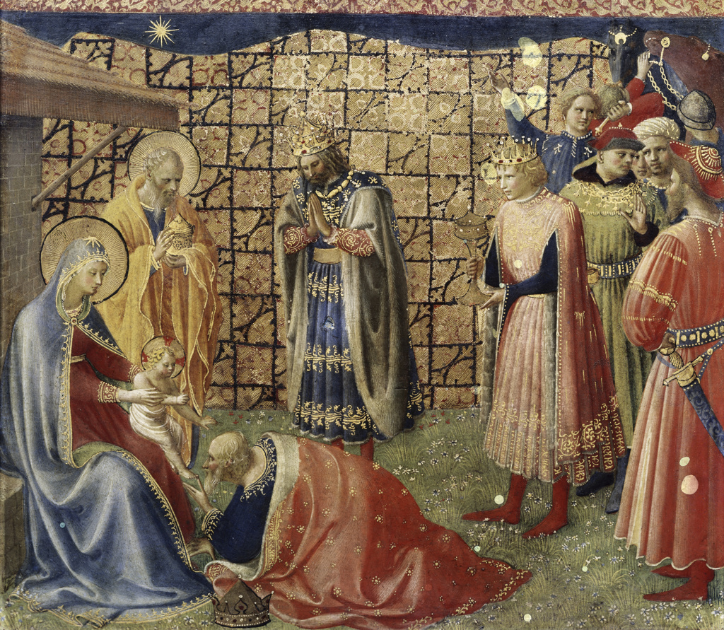Stock Photo: 3804-371253 Adoration of the Magi  Fra Angelico ca.(1400-1455/Italian)