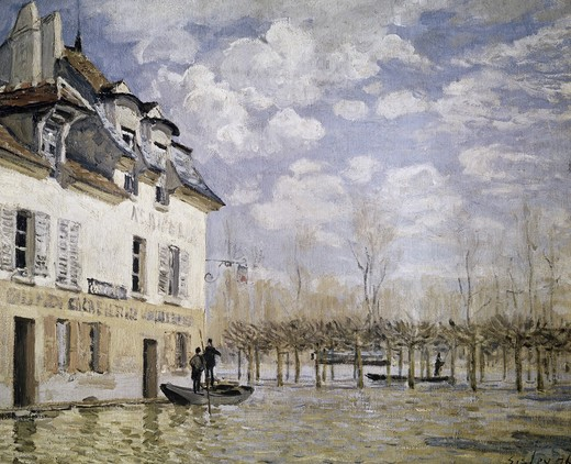 Stock Photo: 3804-371522 The Boat in the Flood, Port Marly