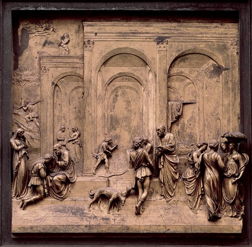 Stock Photo: 3804-393870 Gates of Paradise - Eastern Doors (Esau & Jacob)