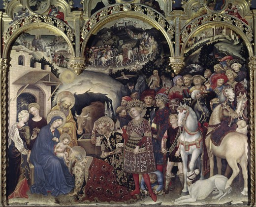 Stock Photo: 3804-396985 Adoration of the Magi (Detail)